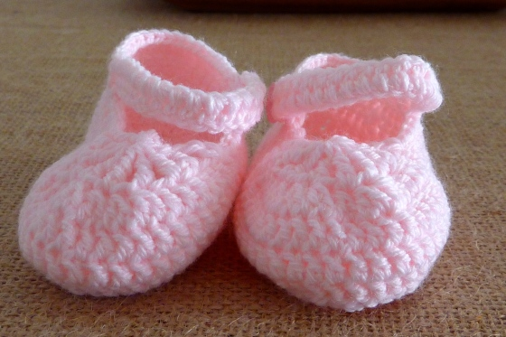 sapatinhos crochet